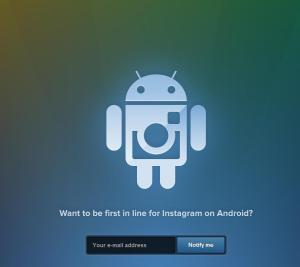Instagram Android Webpage