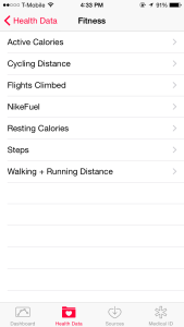 "The iOS Health App's ""Fitness"" Categories"