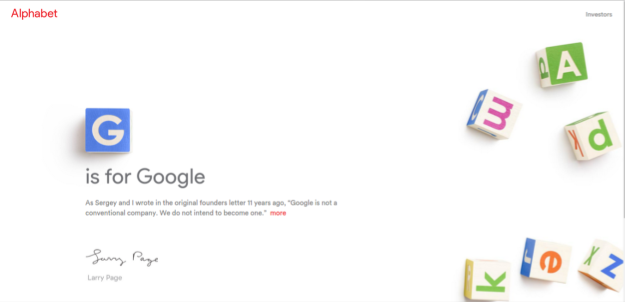 Alphabet Homepage (abc.xyz)