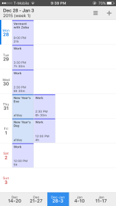 Screenshot of Calendars 5