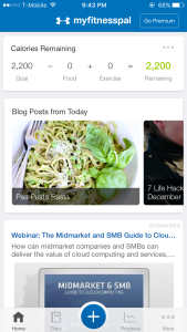 Screenshot of MyFitnessPal